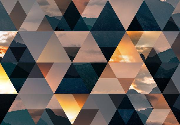 镶嵌图案背景三角形