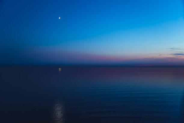 英吉利海峡夜晚