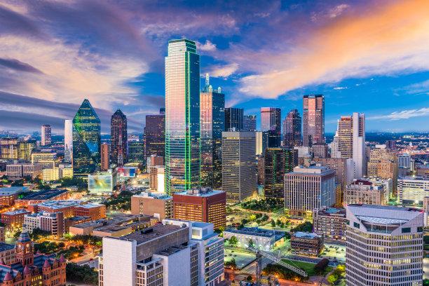 达拉斯市城市天际线德克萨斯
