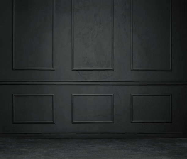 暗色住宅房间