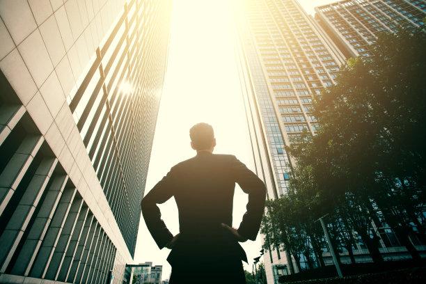 商务人士城市励志