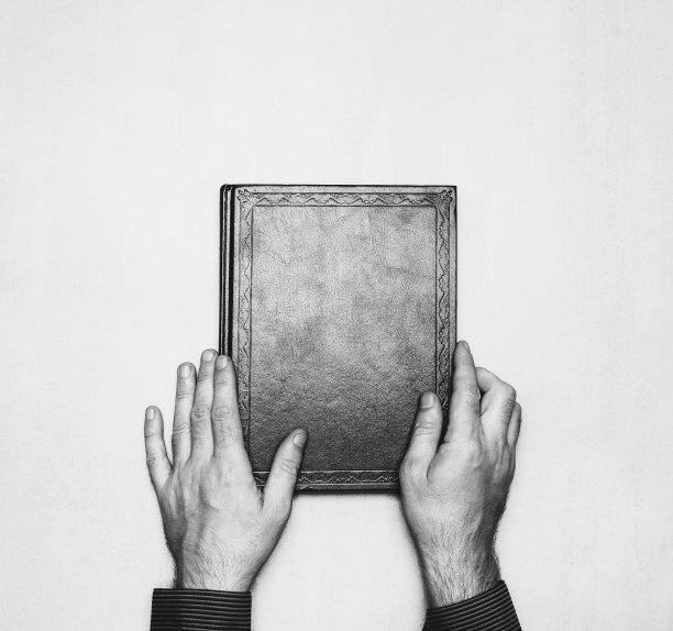 书手黑白图片
