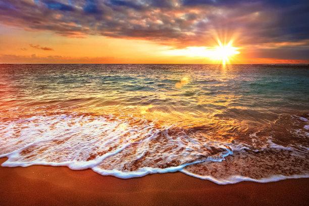 黎明,海洋,宁静