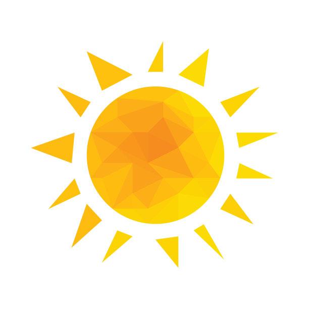 几何形状阳光光束矢量