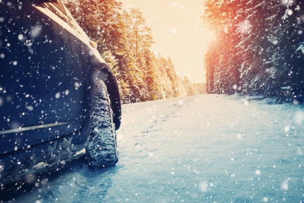 冬天路早晨