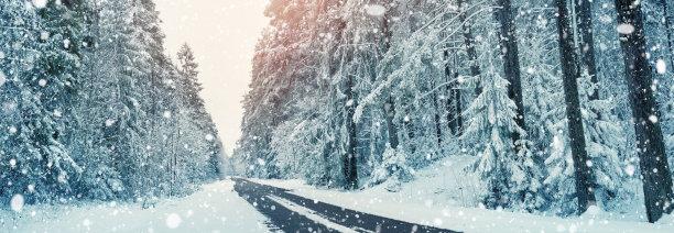 积雪的道路