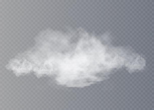 烟雾白色分离着色