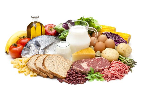 白色背景食品图片