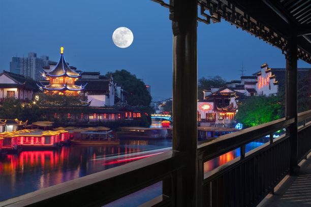 江苏省夜晚南京