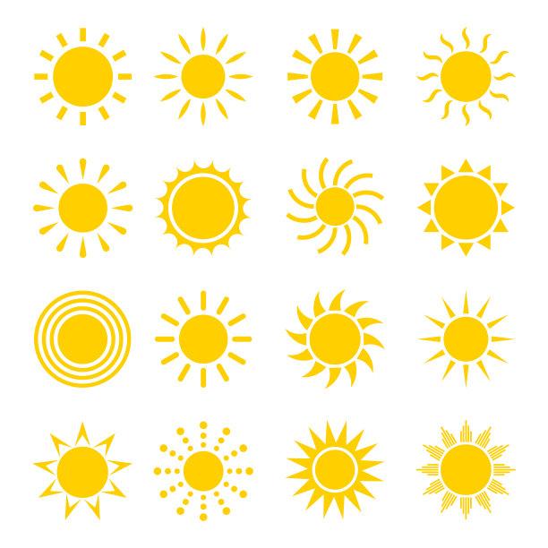 矢量日光计算机图标