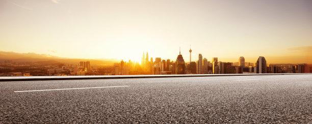 都市风景现代空的