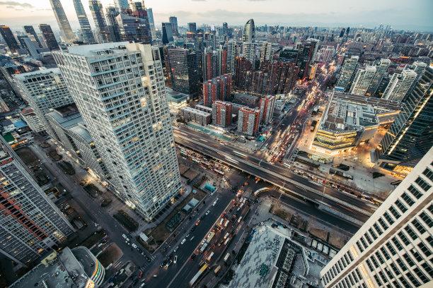 北京黄昏图片