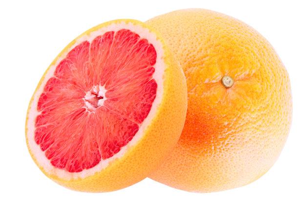 清新葡萄柚一半的