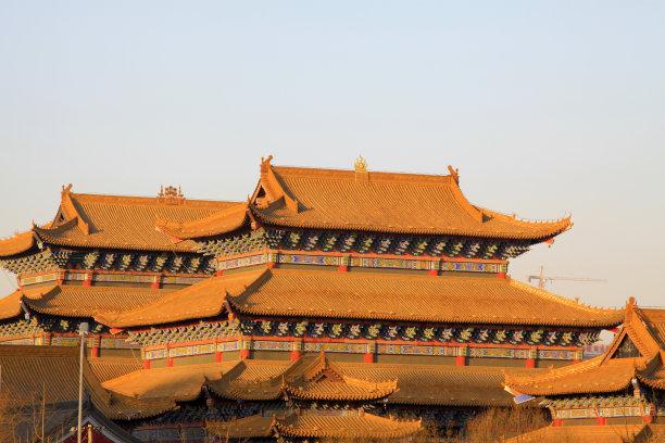 寺庙特写图片