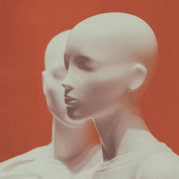 人物脸部雕塑像