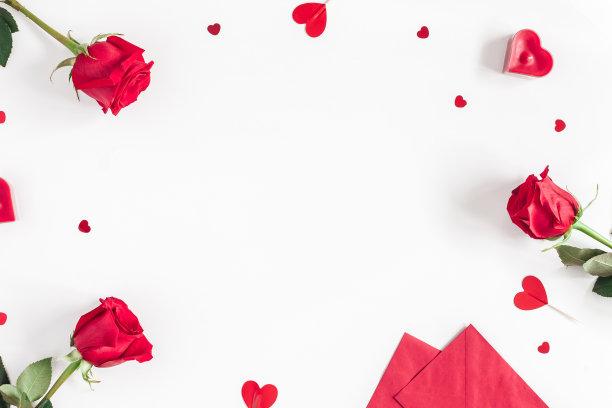 情人节玫瑰底图
