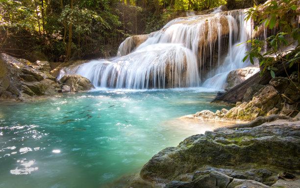 北碧泰国爱侣湾瀑布