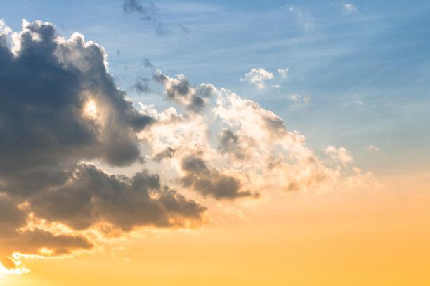 天空,云,美