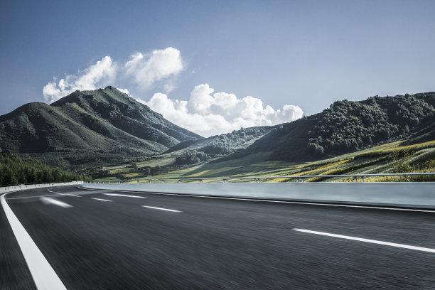 运动模糊山脉空的路