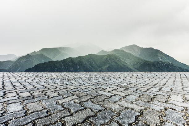 空的山脉砖