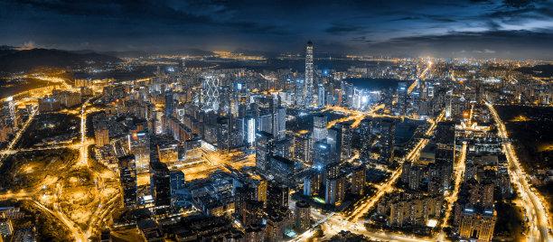 夜晚现代城市