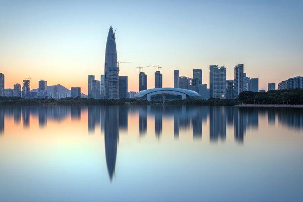 深圳城市天际线海湾