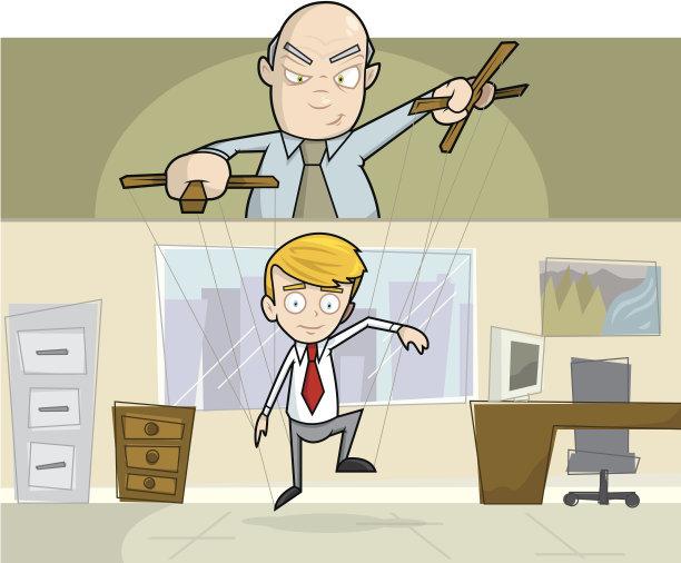 办公室男商人木偶