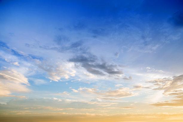 天空,云景,黎明