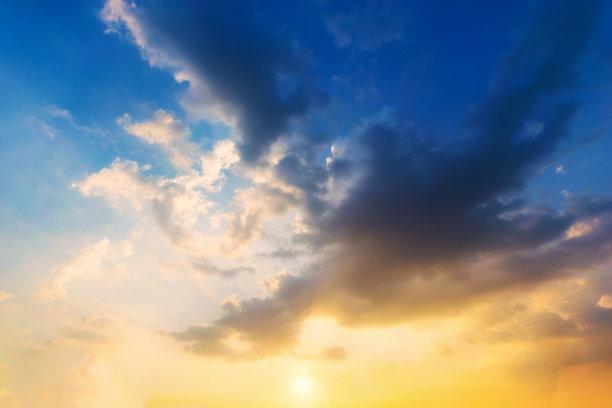天空,云景,蓝色