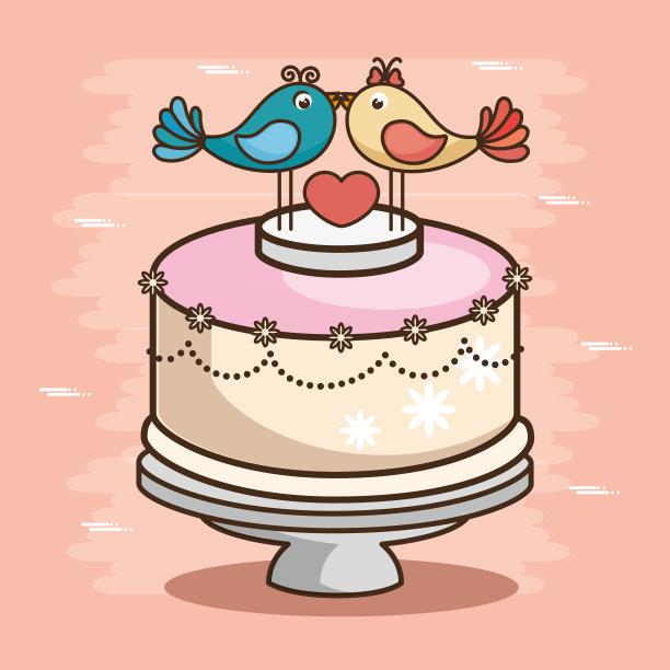 高雅结婚蛋糕图片