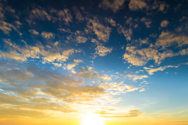 天空,阳光光束,橙色