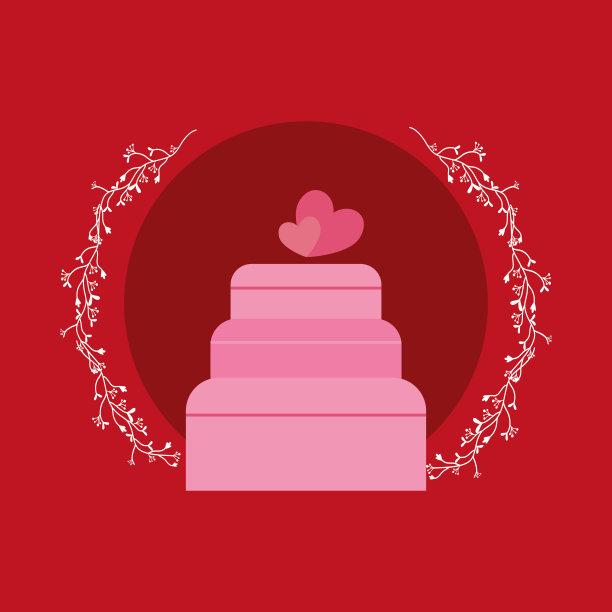 结婚蛋糕美图片