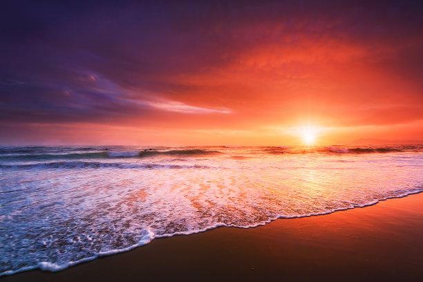 海滩,自然美,水