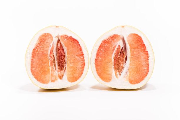葡萄柚横截面柚子