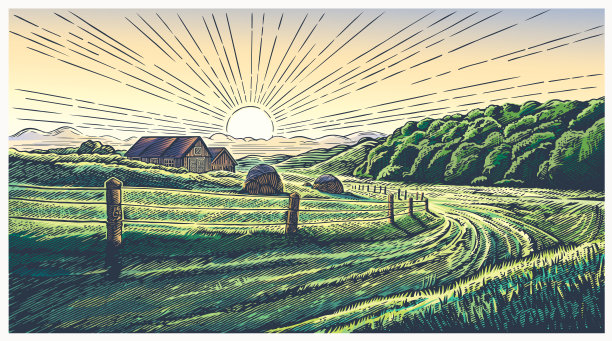 地形乡村图片