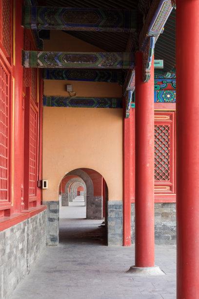走廊建筑远古的