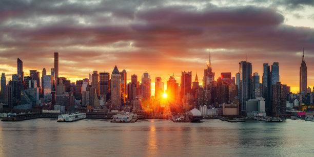 明亮黎明曼哈顿