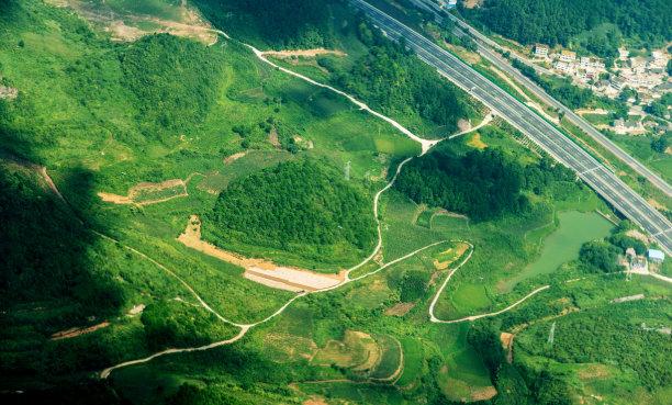 山林公路航拍