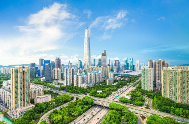 深圳城市天际线天空