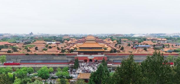 全景故宫北京