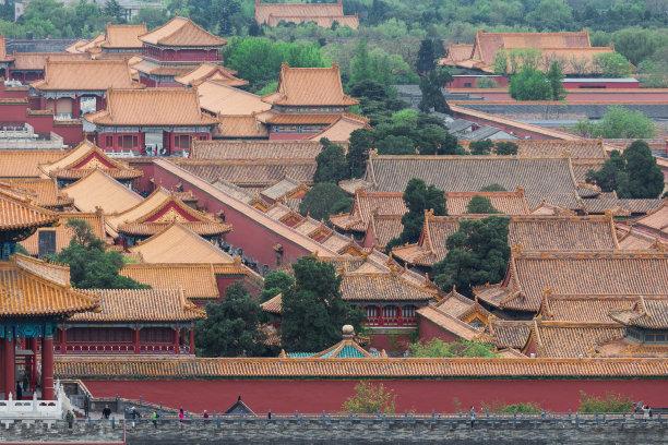 故宫北京都市风景