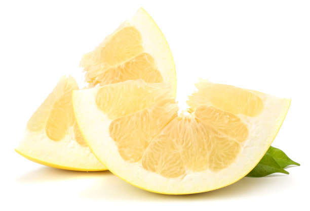 柚子白色背景分离着色