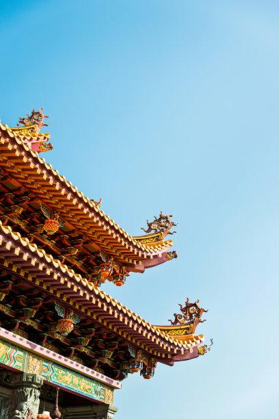 寺庙屋顶图片