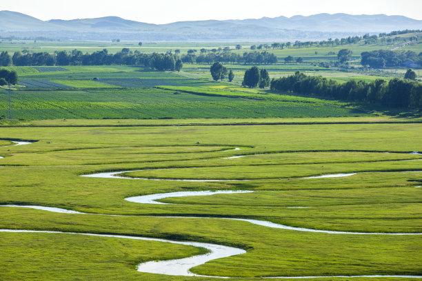 河流平原水