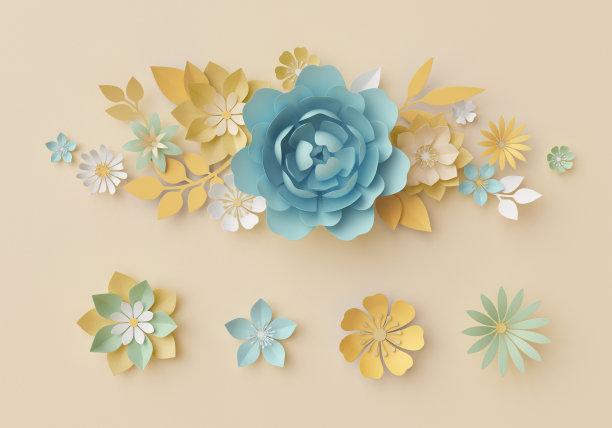 装饰3D花朵