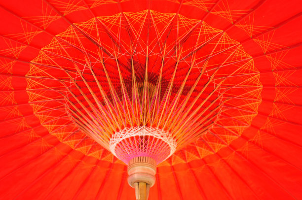 木制,泰国,伞