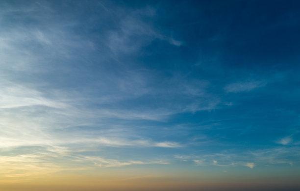 天空,橙色,云