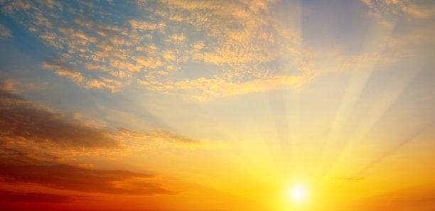 明亮,黎明,云