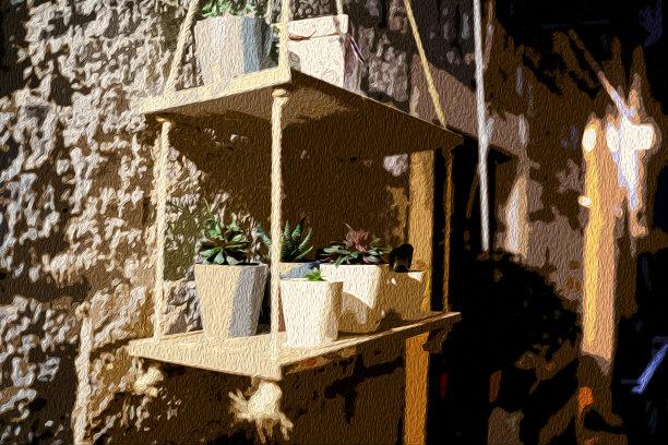 街道地中海花盆