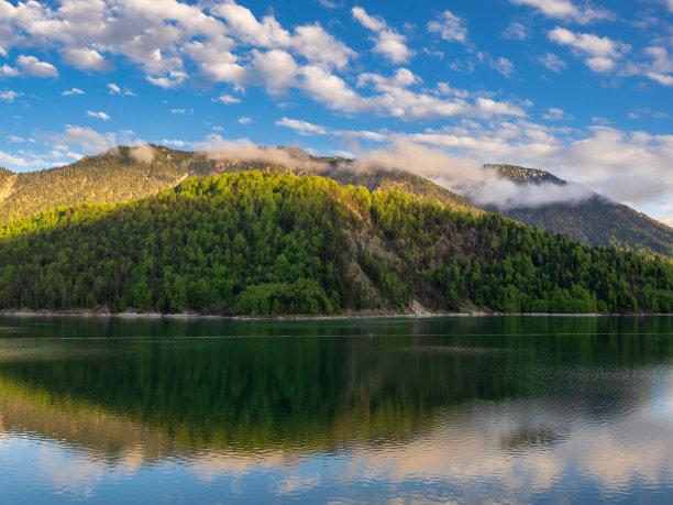 湖,山脉,巴伐利亚